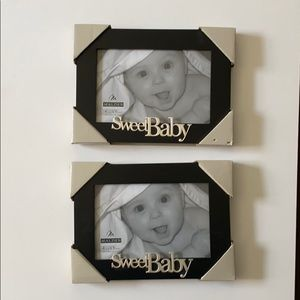"""NIB - """"Sweet Baby"""" Picture Frames - 4x6 - Set of 2"""